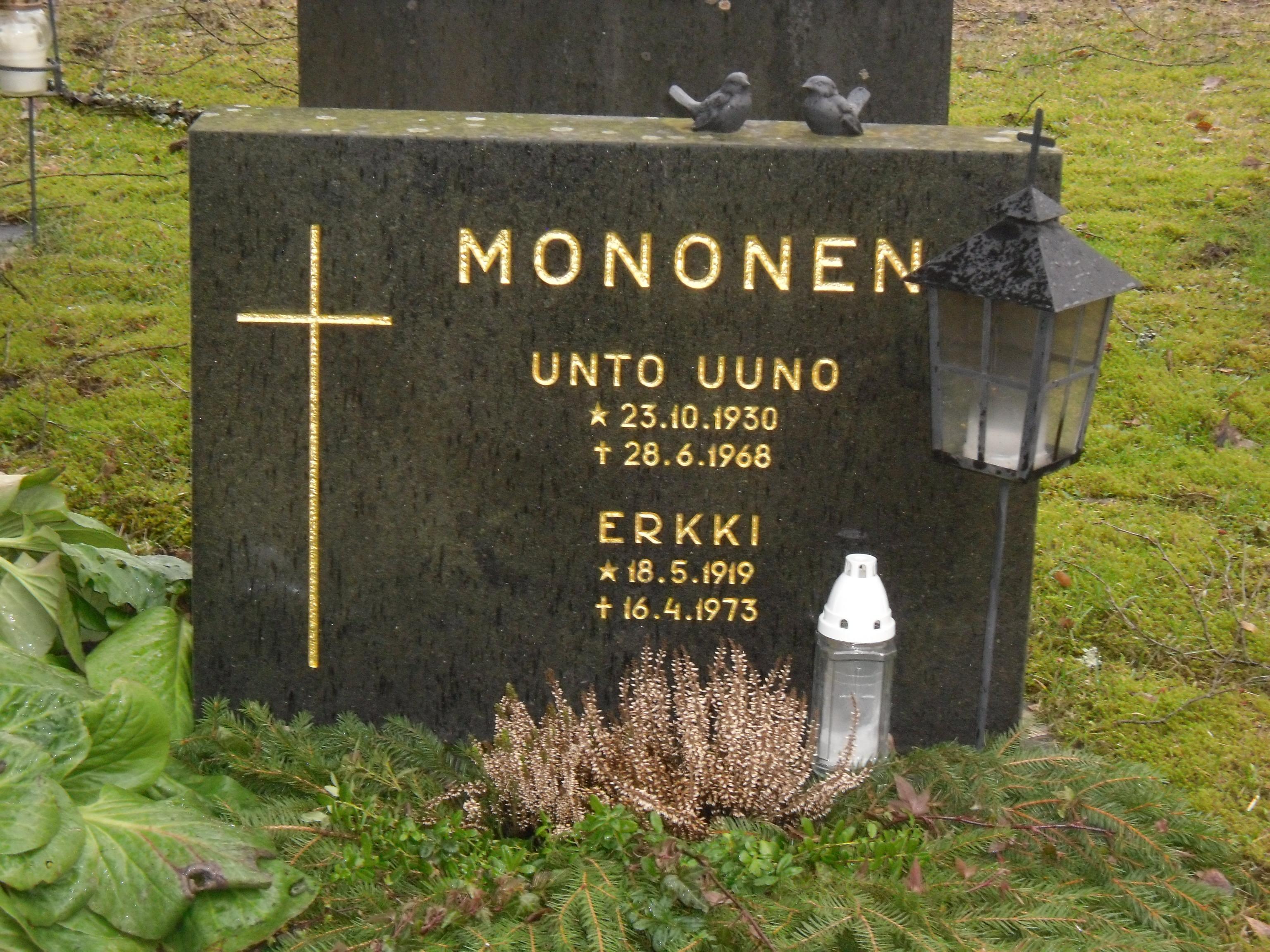 Unto Monosen hauta. EskoG-67, CC BY-SA 4.0 via Wikimedia Commons