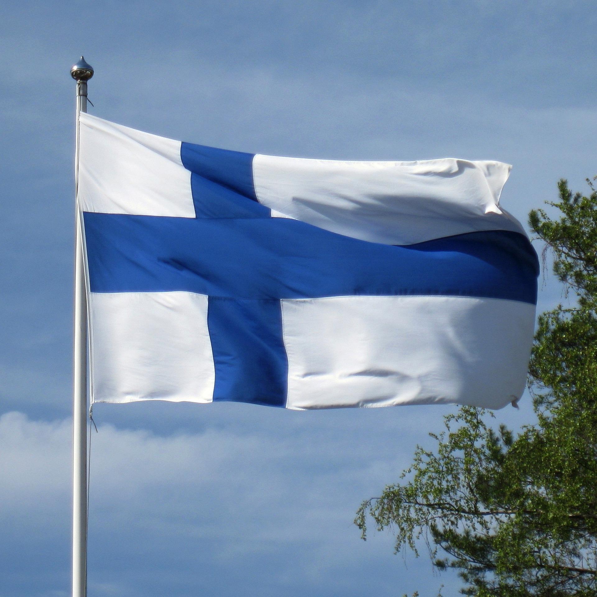 Suomen lippu. Pixabay.