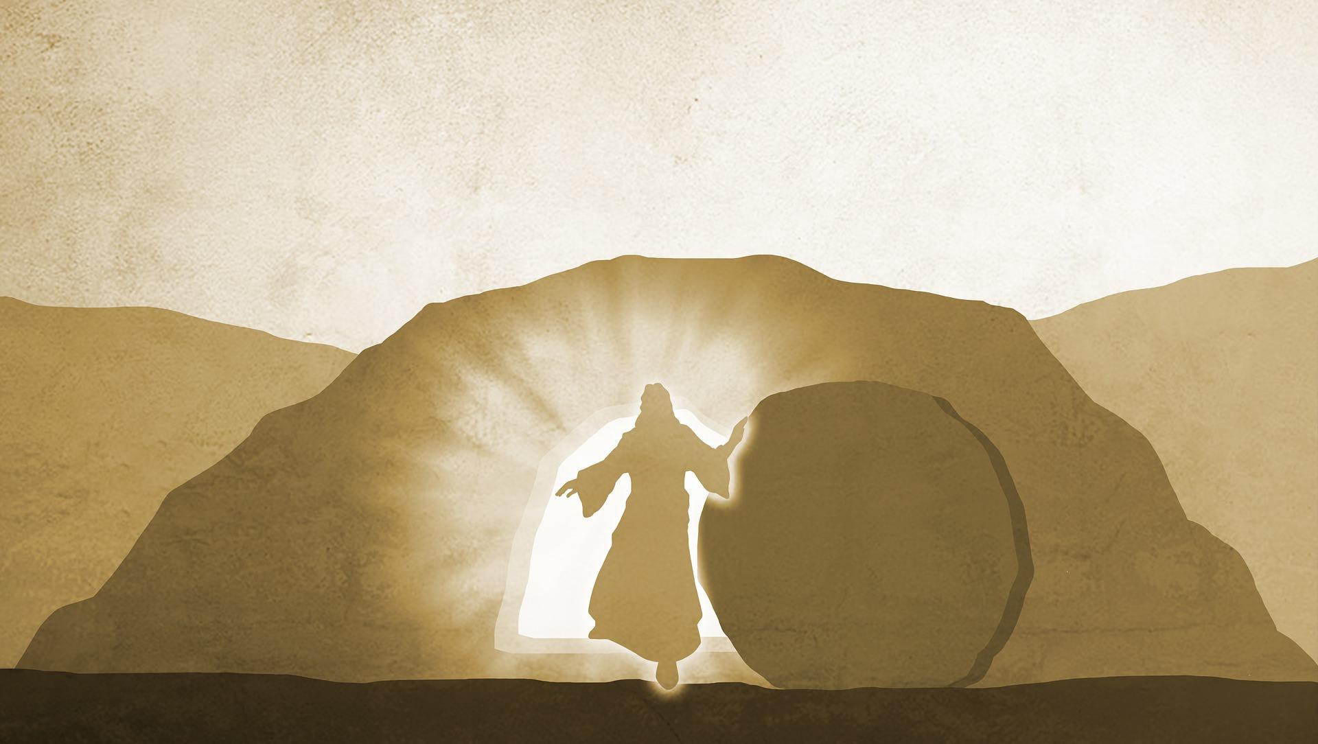 Jeesus herää kuolleista. Pixabay.