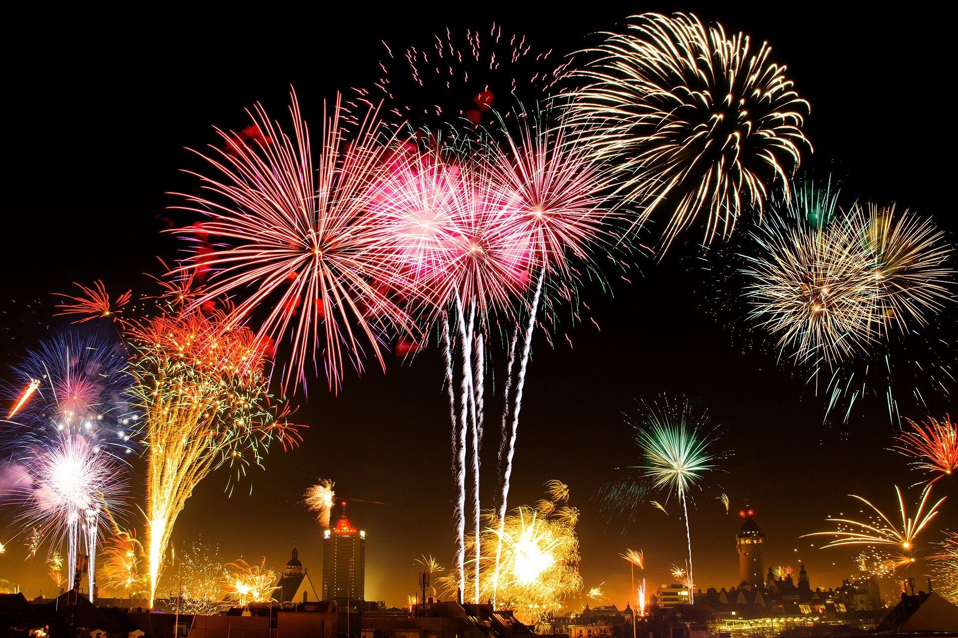 Uudenvuoden ilotulitukset. Pixabay.