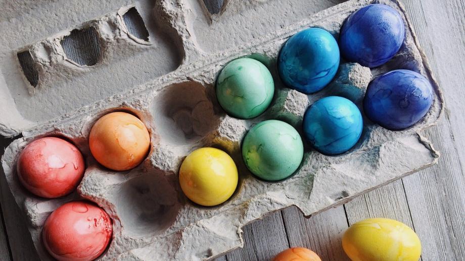 Maalattuja kananmunia. Pixabay.