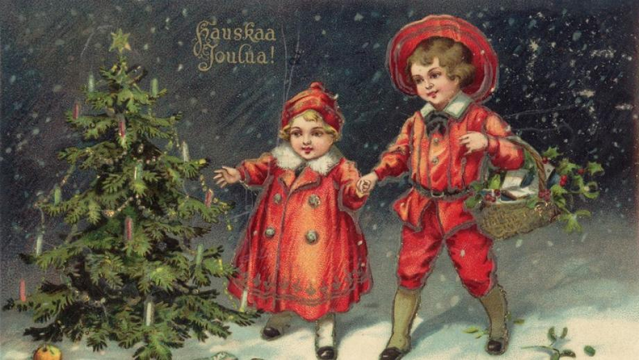 Postikortti, joulukortti. 1926. Helsingin kaupunginmuseo E73-8-8. CC BY 4.0.