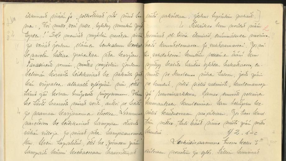 Akaan laskiaista ja pääsiäistä. Väinö Arola 1911. SKS KRA.