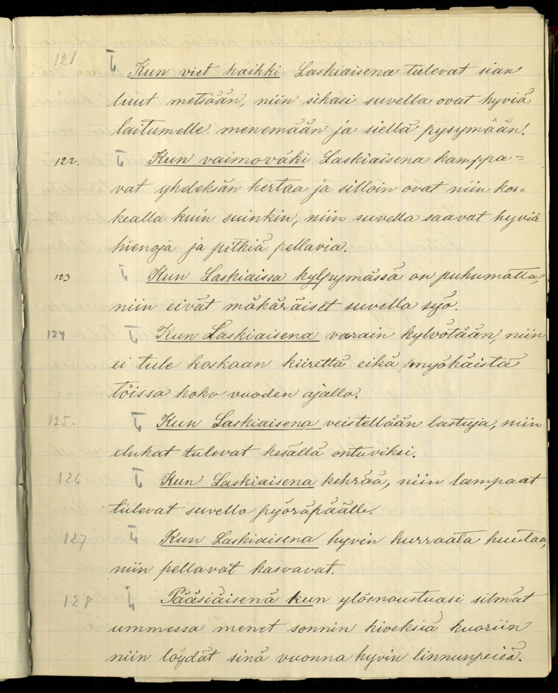 Noitatemppuja Sääksmäeltä. Kokoellut K. K. Aalto 1887.